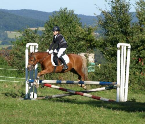 Nina und Ossi springen